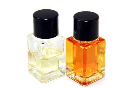 glass sample bottles, isolated on white Stock Photo