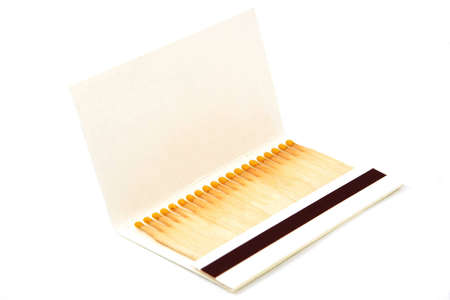 A book of matches, isolated on white background