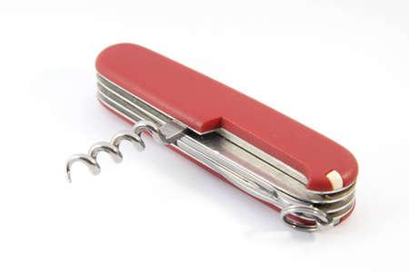 Swiss pocket knife isolated on white  Stock Photo