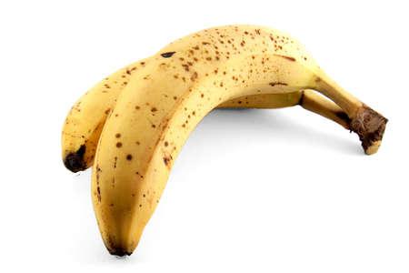 Overripe banana isolated on white background  Stock Photo