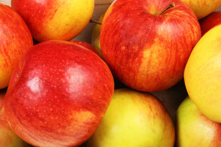 Background of the red apples