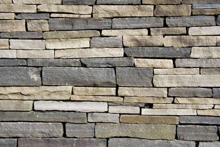 Closeup view of stone wall