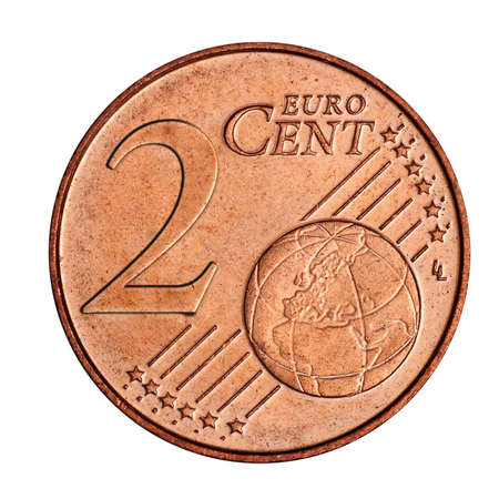 A collage of  2 euro cent coin Stock Photo