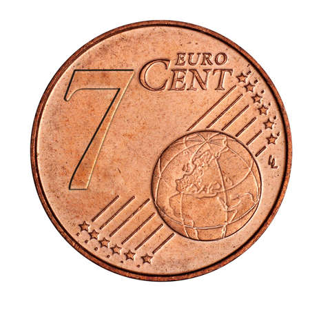 cent: A collage of  7 euro cent coin