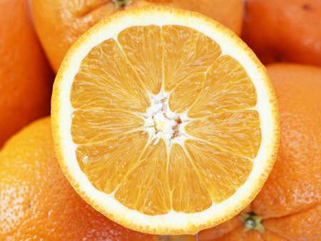 Background of  juicy orange slices  Stock Photo