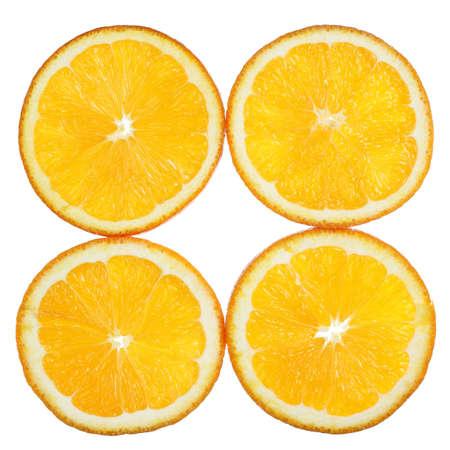Orange slices on white background Stock Photo