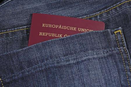 A EU passport in a pocket