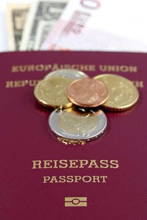European Union passport and money