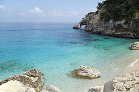 seashore cala goloritze, Sardinia, Italy photo