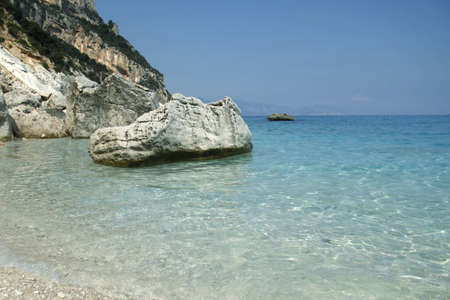 seashore cala goloritze, Sardinia, Italy Stock Photo