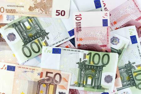 Background of euro bills