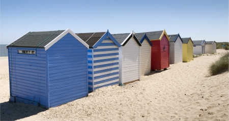 Beach Huts at Southwold, Suffolk, UK Stock Photo - 16975474