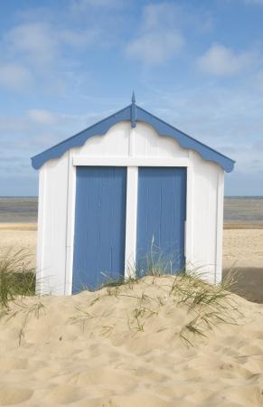 cabane plage: Simple Cabine de plage, Southwold, Suffolk, Royaume-Uni Banque d'images