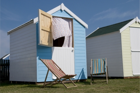 New Beach Huts at Southwold, Suffolk, UK