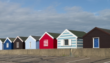 southwold: Beach Huts at Southwold, Suffolk, UK