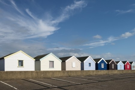 Beach Huts at Southwold, Suffolk, UK  photo