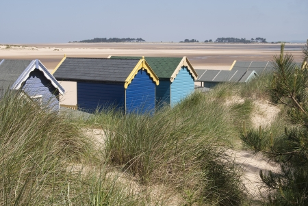 Beach Huts at Wells-next-the-Sea, Norfolk, UK