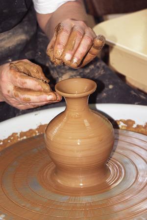made by hand: Hand made clay jug