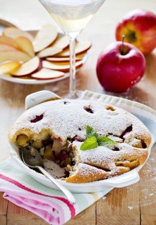 Photograph of a tasty apple pie dessert Stock Photo