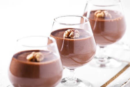 Photograph of a tasty looking chocolate mousse dessert