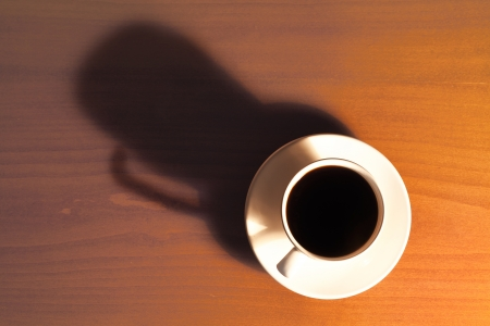 Close up photograph of a hot cup of coffee Stock Photo