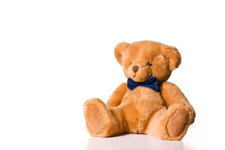 oso de peluche: Cierre de fotograf�a de un peque�o oso de peluche lindo