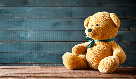 Close up photograph of a cute teddy bear Stok Fotoğraf