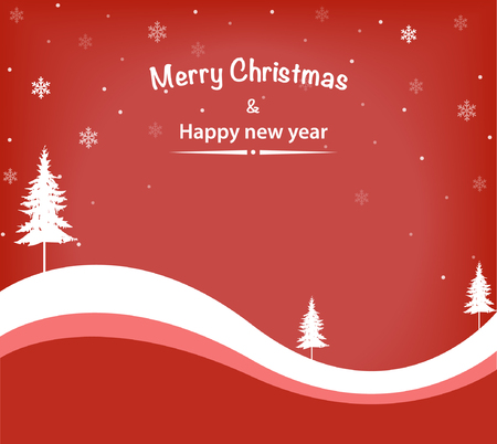 Simple illustration of a red christmas greeting card Illustration