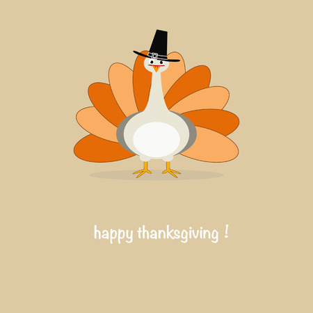 Simple illustration of a thanksgiving greeting card Illustration