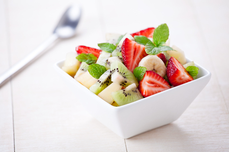 Close up of some refreshing summer fruit salad