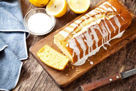 Homemade pound cake with vanilla and organic lemons Stock fotó
