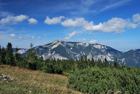 schneeberg: The peak of the Schneeberg mountain in the Austrian Alps Stock Photo