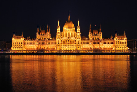 the parliament: The Hungarian Parliament Building Stock Photo