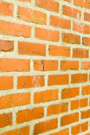 morter: Muro di mattoni rossi con Vanishing Point