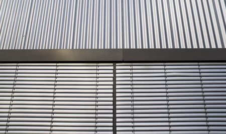 Detailed close up view on industrial metal and steel surfaces Archivio Fotografico