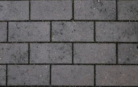 Detailed close up view on cobblestone street textures in high resolution Stockfoto
