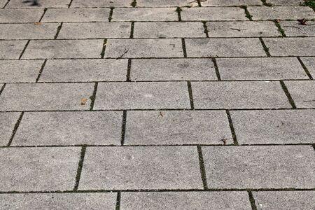 Detailed close up view on cobblestone street textures in high resolution Standard-Bild