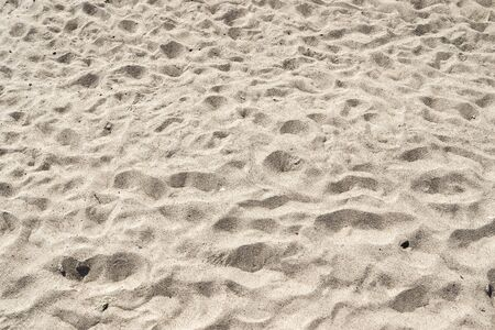 Detailed close up view on sand on a beach at the baltic sea