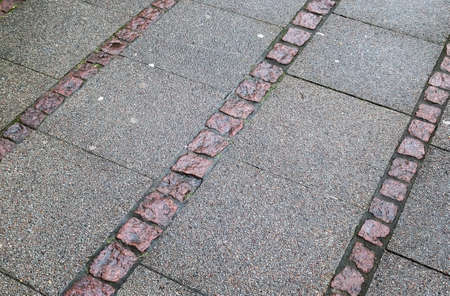 Detailed close up on old historical cobblestone roads and walkways all over europe