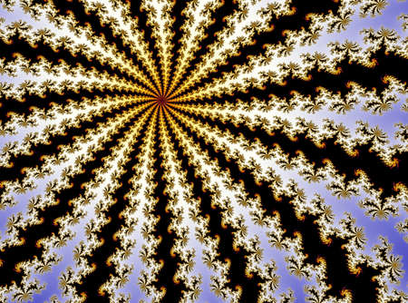3D-Illustration of a zoom into an infinite mathematical fractal set