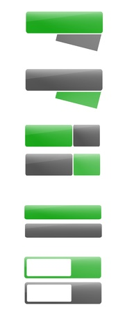Fresh green and grey banners for web designers Stock Photo - 12946008
