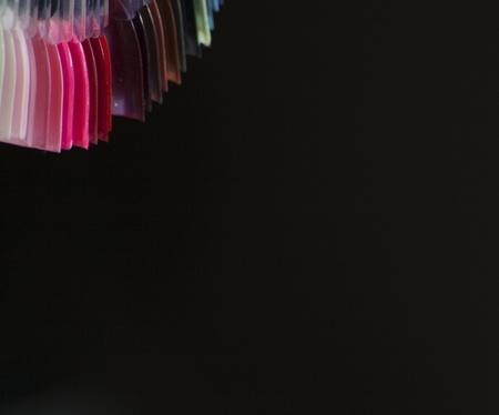 Artificial nails colour palette Stock Photo