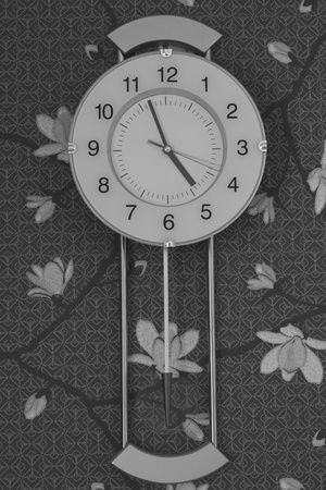 Decoration wall clock black and white Stock Photo