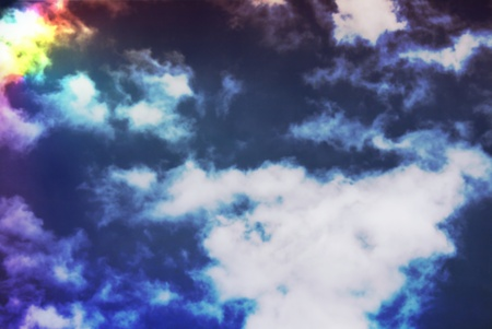 Colorful dramatic clouds in the sky Stock Photo - 13718496