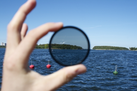 Polarization filter for photography article or something