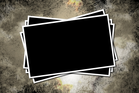 Black frame on a grungy decor Stock Photo - 13885512