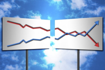 stock predictions: Grafici che mostrano i cambiamenti Buona economia per mostrare il futuro companys