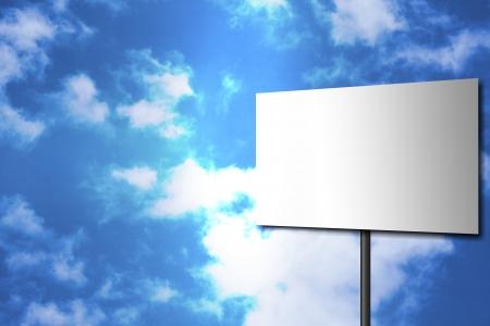 plague: Empty sign on a sky backround   Stock Photo
