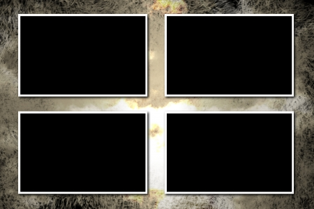 Four frames for photos on agrungy background Stock Photo - 13885455