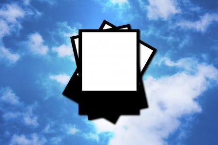Polaroid frame on a sky background Stock Photo - 13885513